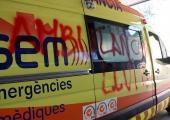 Ambulància en lluita girona