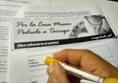 """Manifest """"Per la Casa Museu Pedrolo a Tàrrega"""" firma del manifest"""